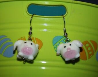 Glass Bunny Earrings