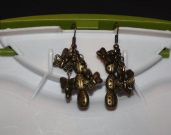 Ladybug & Butterfly Earrings