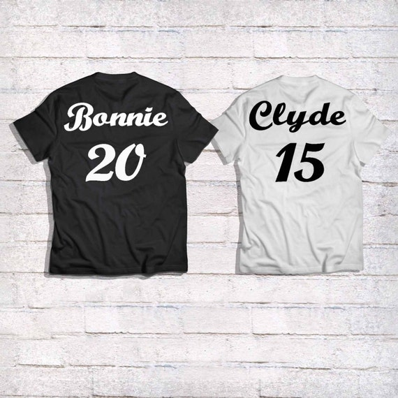 bonnie and clyde couples shirts couples by bloomdesignart1. Black Bedroom Furniture Sets. Home Design Ideas