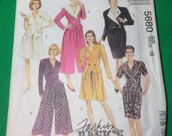 Vintage Sewing Pattern  McCall's 5680  Free Shipping
