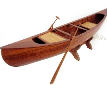 """24"""" Traditional canoe with oars"""