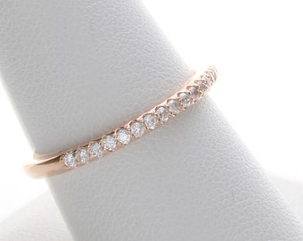 Rose Gold Wedding Ring, Rose Gold Diamond Band, Rose Gold Wedding Ring, Rose Gold Diamond Ring, Diamond Rose Gold Band, Anniversary Ring