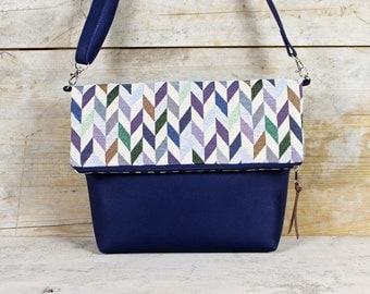 "Foldover bag of diamonds/zigzag ""ANILA"""