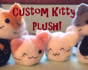 Custom Felt Kitten Plush: Design Your Own Cat Plushie!