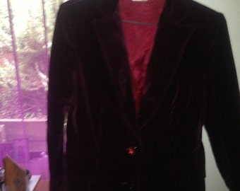 Beautiful burgundy velvet jacket