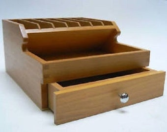 Wooden Pliers Rack With Storage Drawers Bench Tool Organiser Wood Sections