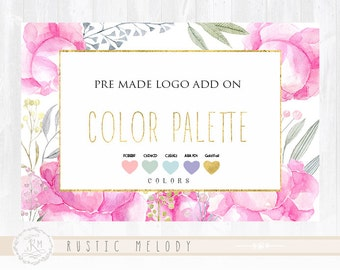 Add On Premade Logo - Color Palette , Hexa Colors