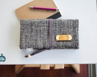 Rollable, organizer case. Japanese fabric.