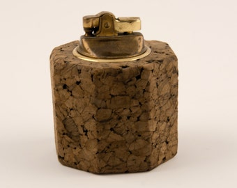 Cork and Brass Table Lighter