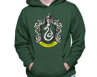 Slyth Crest #1 printed on Forest green Hoodie