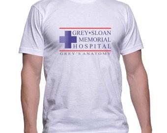 Grey Sloan Memorial Hospital printed on MEN tee