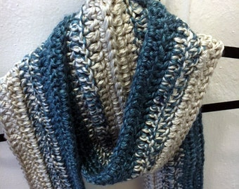 Blue Gray Ombre Scarf