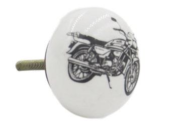 Motorcycle Knob Pull for Dresser, Drawer, Cabinet, Garage, or Door - CVK3