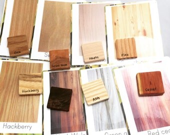 Bark and grain identification kit, tree identification kit, sample wood grain