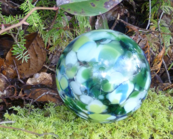 Pond Float or Yard Ornament (small) - Green mix