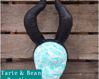 Ready to ship Adult Maleficent Inspired Horns Halloween Costume villian villians headband