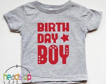 Birthday Boy Shirt - Toddler Boy Birthday Shirt 1, 2, 3, 4, 5, 6, 7 - One - Two - Three - Four - Five - Six - Seven - Bday Boy Tee Trendy