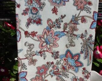 Blue Flowered Tea Towel