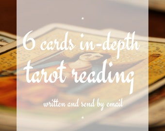 6 Cards Tarot Psychic Reading, Clairvoyant, Medium, Fortune-Telling, Love, Luck, Career, Money, Happiness, Fate, Destiny