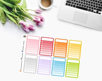 WEEKLY CHECKLIST Planner Stickers CAM00254