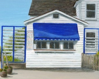 Ice Cream Stand Print, Limited Edition Giclee of Benson's Painting by Debbie Shirley