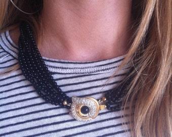 Choker necklace, handmade, jewelry clasp