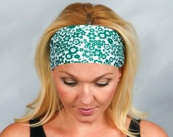 Fashion Headband Green Fitness Headband Head Wrap Bohemian Headband Green Headband No Slip Headband Running Headband Yoga Headband Green