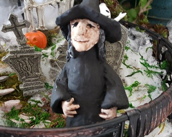 Miniature Witch in Black
