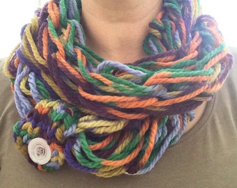 Infinity scarf in autumn colors