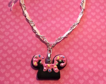 Disney Inspired Mickey Sprinkle Ear Necklace (ready to ship)