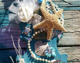 Under the sea fiddle  wall hanging