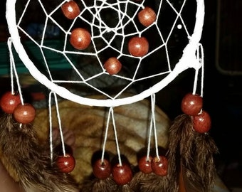 White and brown dreamcatcher