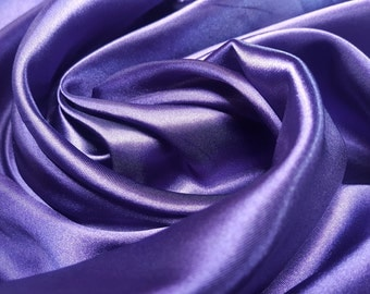 Purple Satin Fabric - UK seller