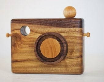 Wooden Toy Camera, Wood Camera, Heritage Wooden Camera