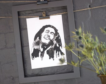 Bob Marley Inkling print