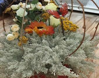 Sunflower Decor, Butterfly Decor, Floral Centerpiece, Rustic Decor, Dried Centerpiece, Sunflower Arrangement, Dried Arrangement