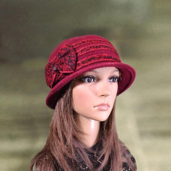 Felt wool cloche hat Felted wool hats Womens felted hats