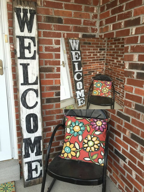 Front Porch Welcome Sign Front Porch Rustic By Rustiquesigns