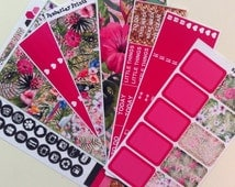 Tropical Weekly Sticker Set Perfect for the Erin Condren, Happy Planner or Plum Paper Planner