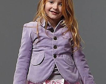 Soft Velvet lilac fitted jacket
