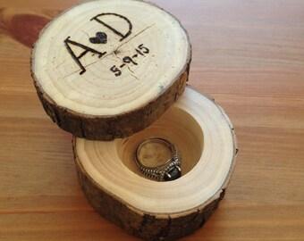 Natural Wood Ring Box