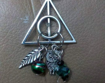 Harry Potter Slytherine Deathly Hallows necklace