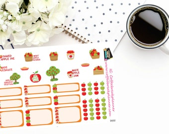 Planner Stickers | Apple Harvest Stickers|Apple Stickers| Harvest Stickers| Apple Picking Stickers|Apple Season Events|D032