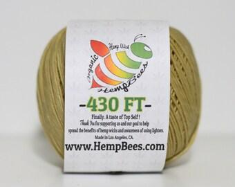 HempBees Hemp Wick Organic - 430 ft- 1mm // FREE SHIPPING