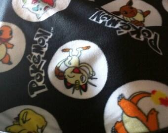 Pokémon Blanket Fleece Blanket Pokémon Fleece Baby Fleece Toddler Fleece Black Blanket Baby Blanket Toddler Blanket Tie Blanket