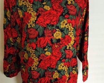 Vintage Floral Boxy Blouse