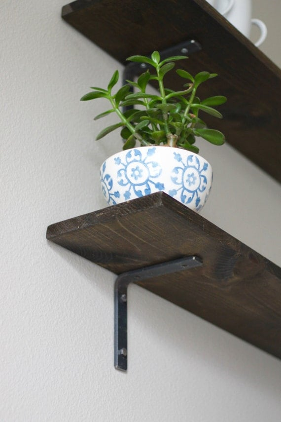 Rustic Shelf Bracket Open Shelving Brackets Metal by ...