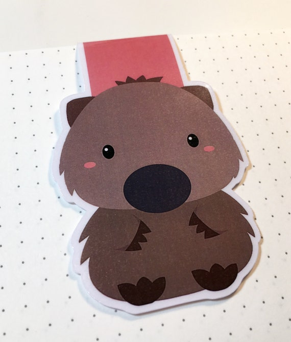Magnetic Page Keepers - wombat - bookmark