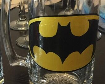 Bat Man beer mug, 27oz