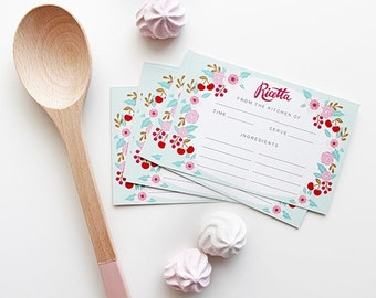 Recipe Cards-Set of 10- Kitchen Made in Italy